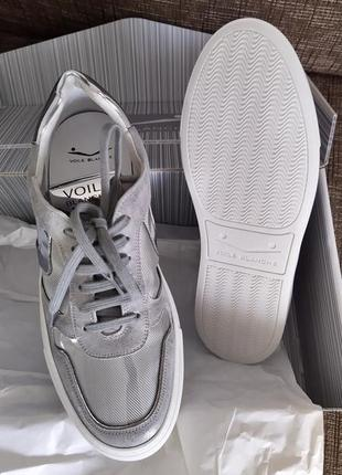Новые кроссовки voile blanche италия серебро зеркало кожа сетка мега крутые
