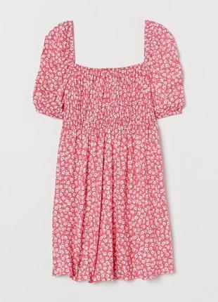 Сукня в принт квіти h&m. платье, цветочное платье, трендовое платье, мини платье.