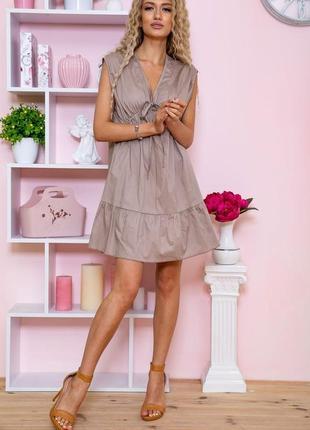 Платье женское цвет мокко