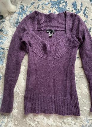 Модный вязаный свитер mango s