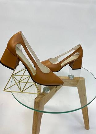 Эксклюзивные туфли из натуральной итальянской кожи и замша кэмел беж