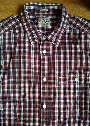 Рубашка крутая клетка брендирована!*wrangler-1947* замеры и цвет!