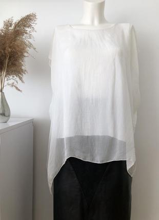 Шовкова літня кофта блуза оверсайз блузка шелк