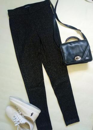 Новые фирменные брюки леггинсы с гипюром тренд
