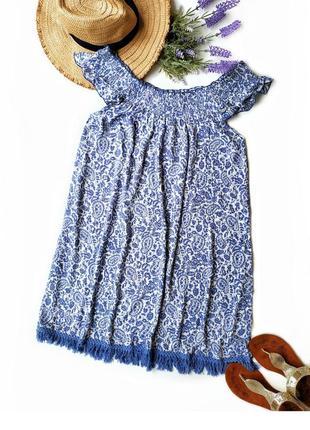 Пляжное платье сарафан из натуральной ткани