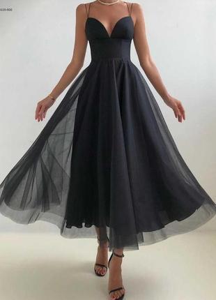 Воздушное вечернее платье миди