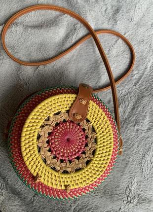 Плетеная круглая сумочка/сумка
