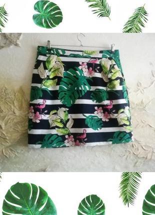Летняя оригинальная юбка с принтом