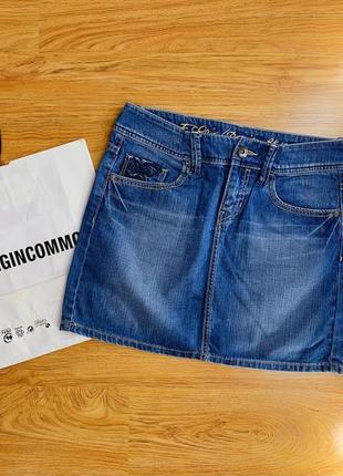 Женская джинсовая мини-юбка