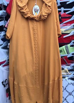Женское платье длинное турция натуральное хлопковое большого размера хлопок туреччина штапель плаття тонке довге натуральне 50 52 54 56 58 60 62