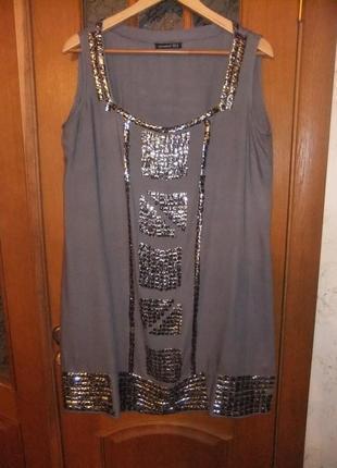 Платье фирменное нарядное atmosfer. 100% вискоза. размер 46-48-50-52.