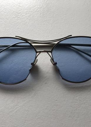 Стильные имиджевые очки с голубыми стеклами