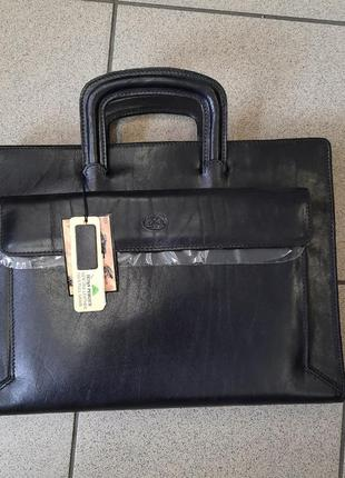Кожаная сумка-папка tony perotti