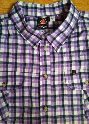 Рубашка  брендирована .индия .*icepeak*54/xl/90% полиэстер.10 вискоза.