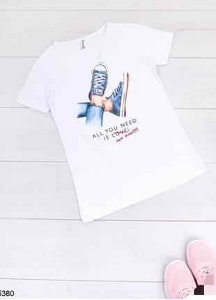 Женская футболка с принтом турция турецкая жіноча белая біла ногами кедами all you need is love new shoes