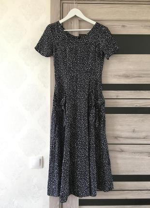 Шикарное платье миди, натуральное , прохладно , на лето супер