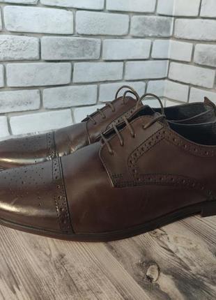 Кожаные туфли броги burton menswear london
