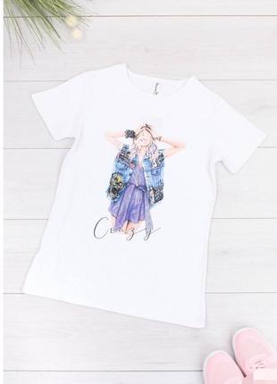 Женская футболка с принтом турция турецкая жіноча белая біла crazy девушкой