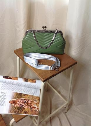 Клатч. сумка с фермуаром. ридикюль.