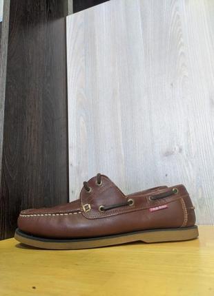 Кроссовки туфли топсайдеры мокасины кожаные tribord