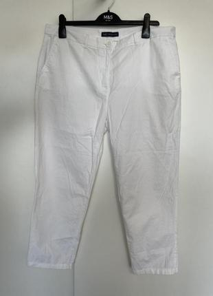 Белые летние брюки zara