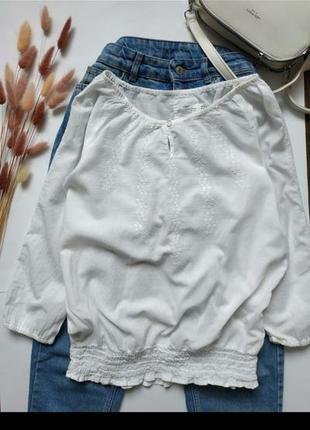 Лёгкая рубашка, туника пляжная с вышивкой