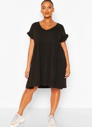 Трикотажное платье от boohoo, большой размер.