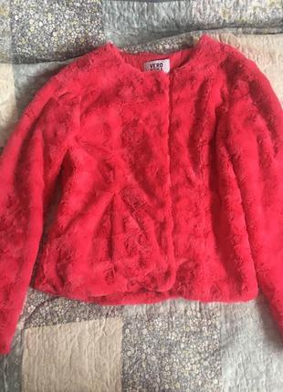 Жакет, куртка из искусственного меха vero moda