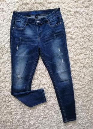 Стильные легкие женские джинсы blue indigo м в прекрасном состоянии