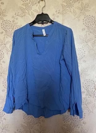 Рубашка легкая синяя морская