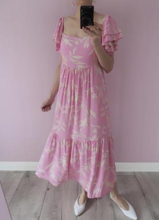 Воздушное платье миди в стиле h&m