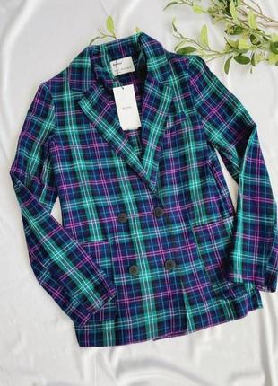 Стильный клетчатый жакет bershka, удлиненный пиджак, новый! ❤️