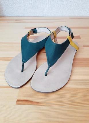 Босоножки promod сандали вьетнамки 36 размер на низком ходу без каблука босоніжки
