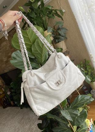 Сумка , сумка белая , сумка біла , сумка стьобана,