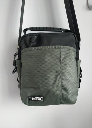 Мужская сумка планшетка, черная и серая