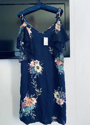 Суперовое платье 👗 штапель с шифоновым воланом george