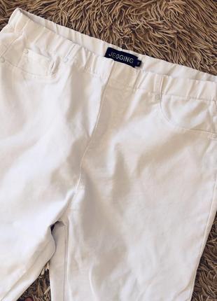 Белые штаны белые брюки размер 16
