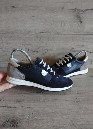 Мокасины туфли geox  36-37р 23,5-24 см текстиль замш