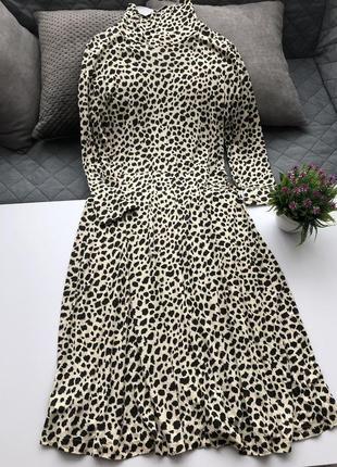 Вискозное платье миди mango!