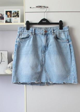 Джинсовая мини юбка от new look