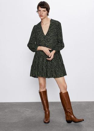 Zara ярусное платье туника сарафан