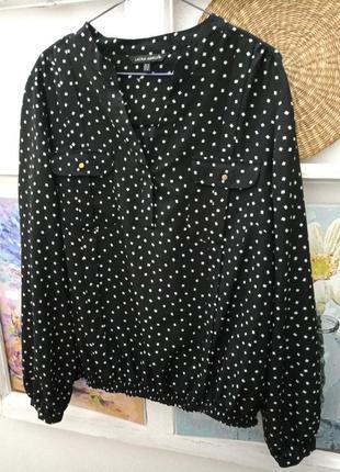 Блуза laura ashley черная в сервй квадрат р.xl