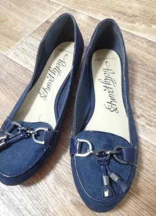 Балетки туфли  синие новые размер 41,5 - 42