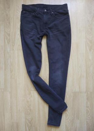 Оригінальні базові темно-сірі джинси levis левис