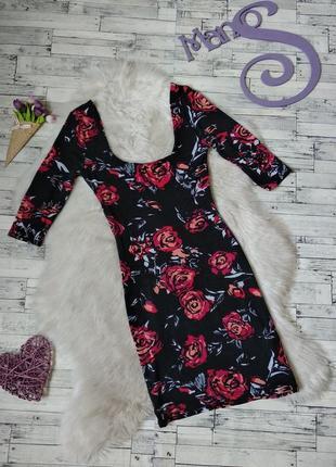 Платье женское new look черное с розами