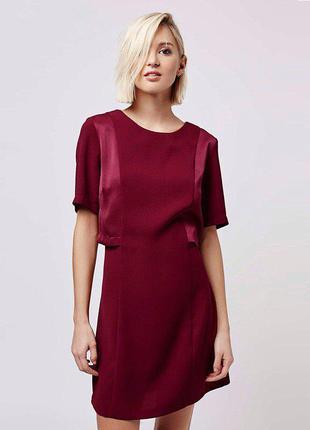 Бордовое платье zara