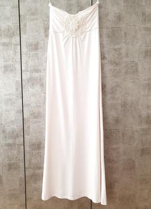 Новое свадебное платье next без бретелек 🥰 / платье на роспись / сарафан а-силуэта.