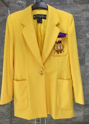Брендовый пиджак жакет escada германия