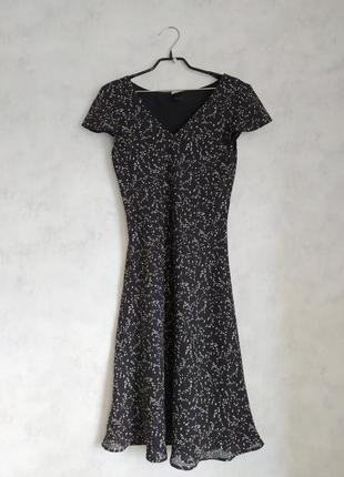 Черное миди платье сарафан