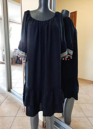 Вискозное с кружевом платье 👗большого размера